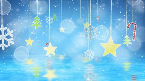 christmas hanging decorations loopable flying - stock footage