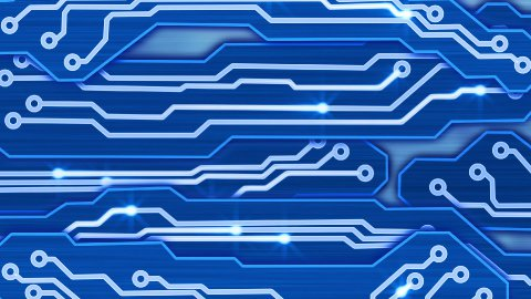 blue electronic circuit plates loop - stock footage