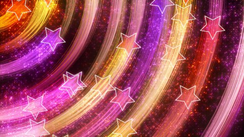 disco stars abstract loopable background multicolor - stock footage
