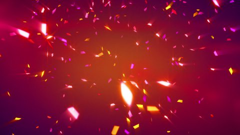 red shiny confetti background loop - stock footage