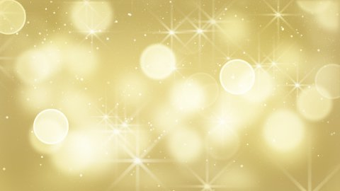 gold bokeh lights particles and starglow loop - stock footage