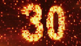 countdown from 30 flashing elements - motion graphic