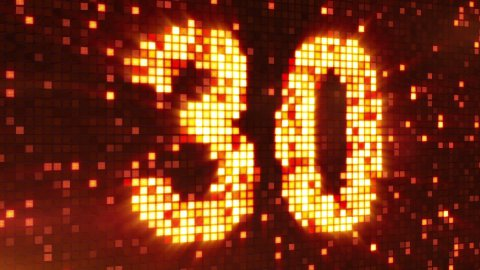 countdown from 30 flashing elements - stock footage