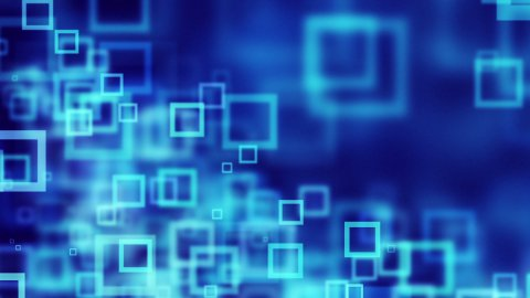 blue squares abstract loopable background - stock footage