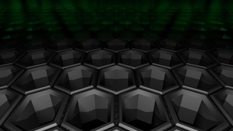 Hexagon Pattern forward crawl - stock footage
