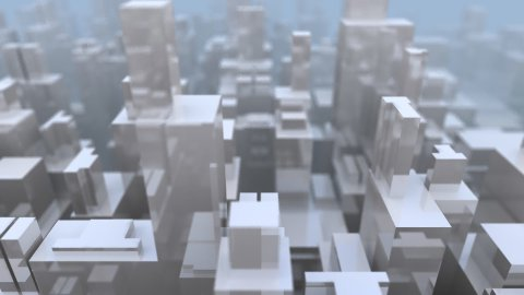 Reflective City Structure - stock footage