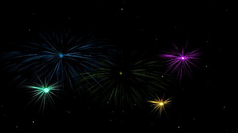 Fireworks 01 - stock footage