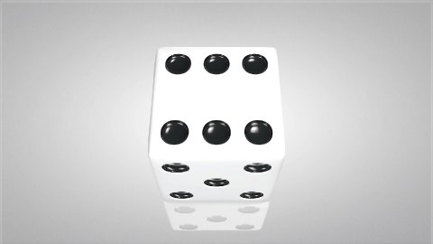 3D dice 03 - stock footage