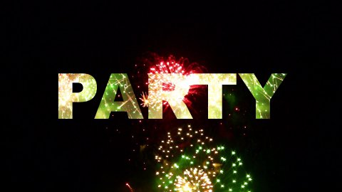 Party fireworks 02 - stock footage