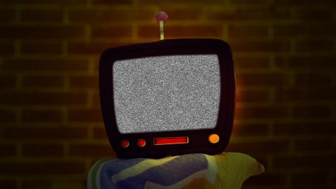 Cartoon TV effects 01 - stock footage