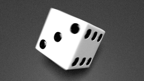 3D dice roll 02 - stock footage