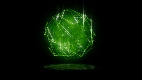 green lines sphere - stock footage