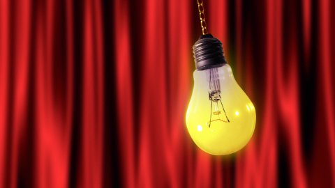 Bulb light pendulum with alpha - stock footage