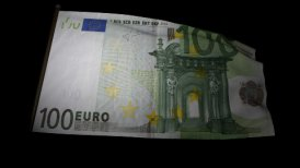 100 Euros bill flag 01 - editable clip, motion graphic, stock footage