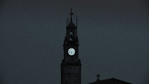 church clock 01 - stock footage