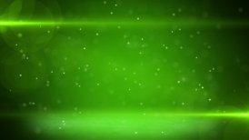 green light beams and particles loopable background - motion graphic