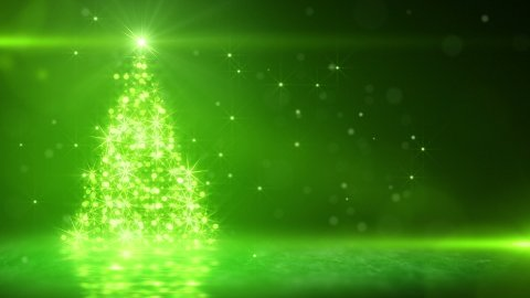 green light christmas tree last 10s loop - stock footage