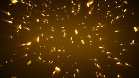 gold shiny confetti background loop - motion graphic