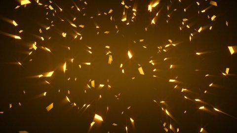 gold shiny confetti background loop - stock footage