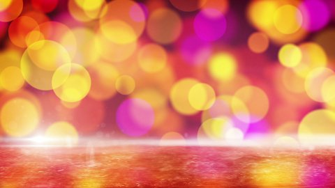 red circle bokeh lights and reflection on ice loop - stock footage