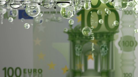 Leaking EURO - stock footage