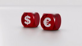 USD and EURO dices - motion graphic