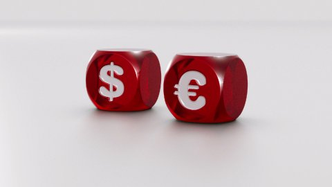 USD and EURO dices - stock footage