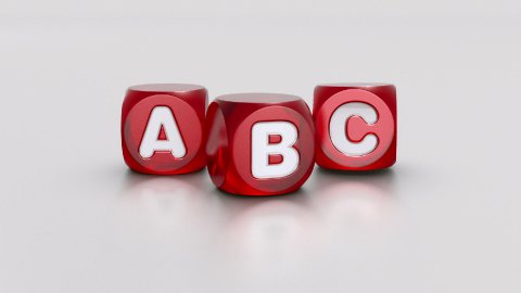 ABC dices - stock footage