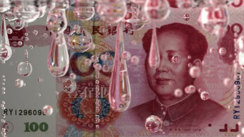 Leaking Yuan - stock footage