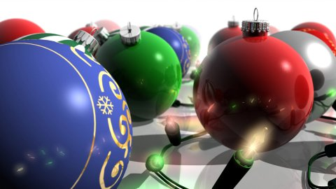 Christmas Ornaments and Lights - Forward - stock footage