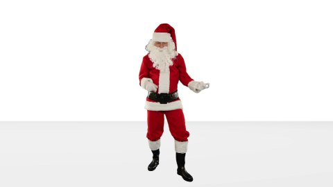 Santa Claus Dancing against Black, Dance 2, against white - stock footage