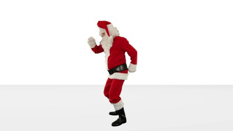 Santa Claus Dancing against Black, Dance 4, against white - stock footage