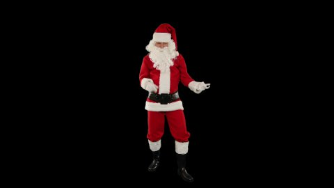 Santa Claus Dancing against Black, Dance 2, against black - stock footage
