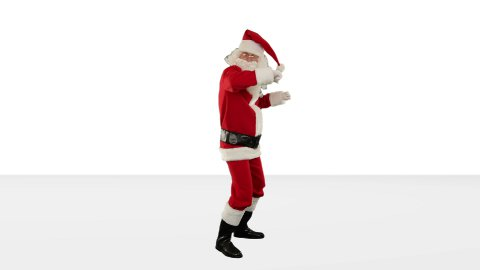 Santa Claus Dancing against Black, Dance 3, against white - stock footage
