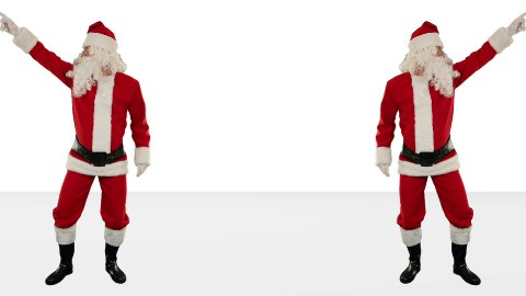 Santa Claus Dancing against White, Dance 7