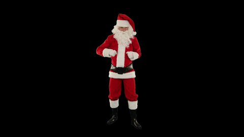 Santa Claus Dancing against Black, Dance 5