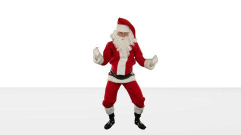 Santa Claus Dancing against White, Dance 8