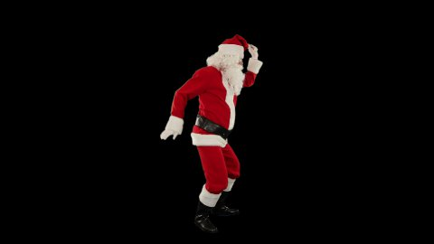 Santa Claus Dancing against Black, Dance 3