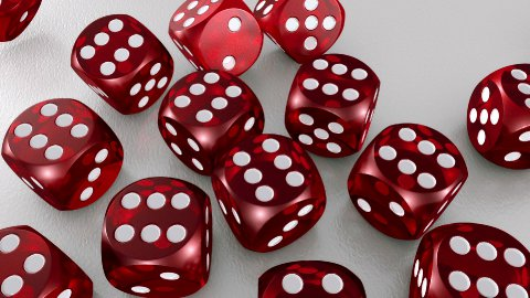 Many Red Dices - stock footage