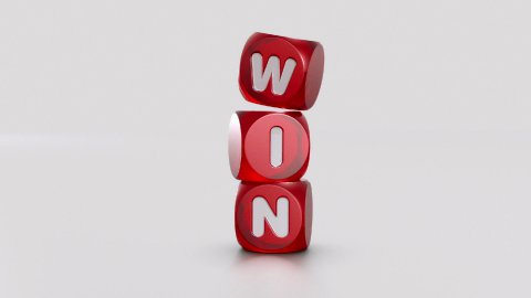 WIN Dices - stock footage