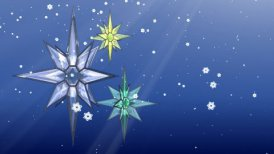 Christmas Stars and Snow - motion graphic