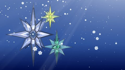 Christmas Stars and Snow - stock footage