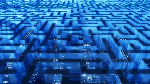Business maze - stock footage