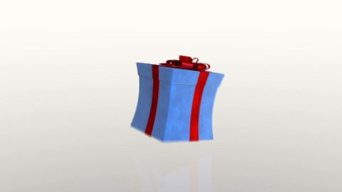 Gift box jiggling to release a virtual product, loop, against white - stock footage