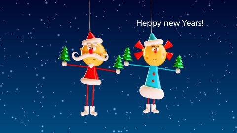 New Year greetings - stock footage