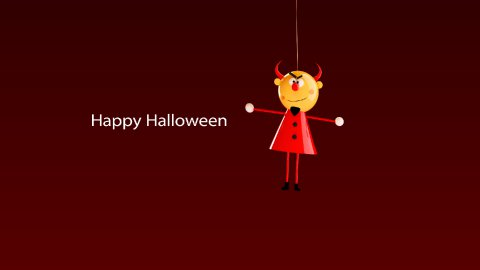 hilarious video greeting card for halloween - stock footage