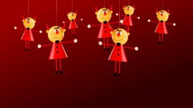 hilarious video greeting card for halloween - motion graphic