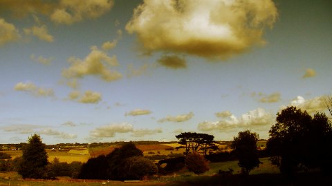 countryside cloudscape timelapse 02 - stock footage