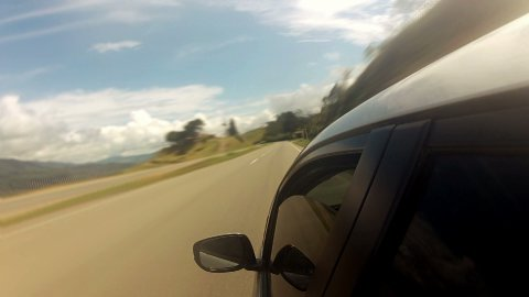Countryside Car Trip 02 - stock footage