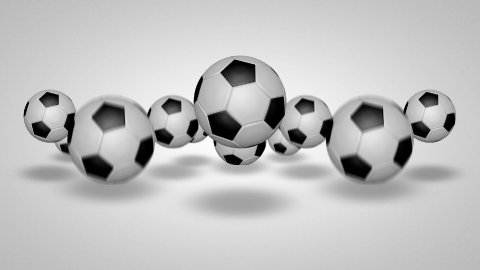 3D football bounce 03 - stock footage